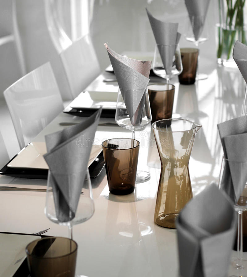 Download Modern Dining Table Setting Stock Image - Image of nobody dinner 25848897 & Modern Dining Table Setting Stock Image - Image of nobody dinner ...