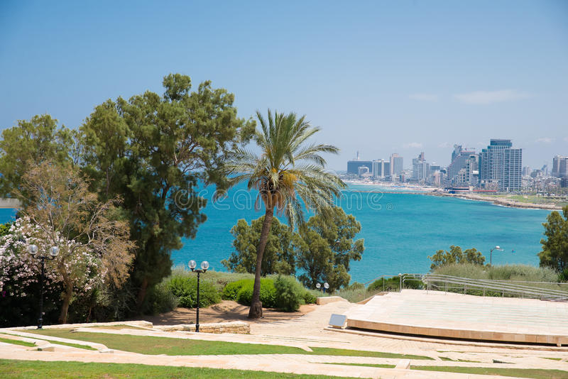 Modern district van Tel Aviv royalty-vrije stock foto's