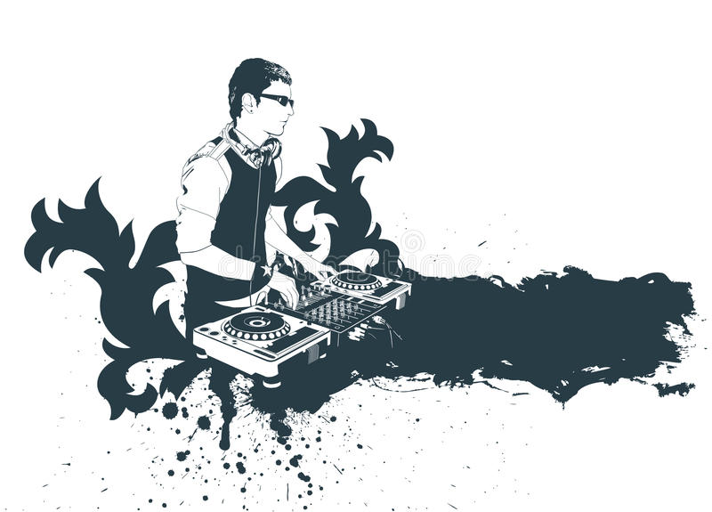 Download Modern dj stock vector. Illustration of club, hand, graphic - 12683245