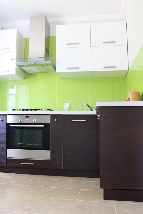 Modern domestic Kitchen. Stylish interior design stock images