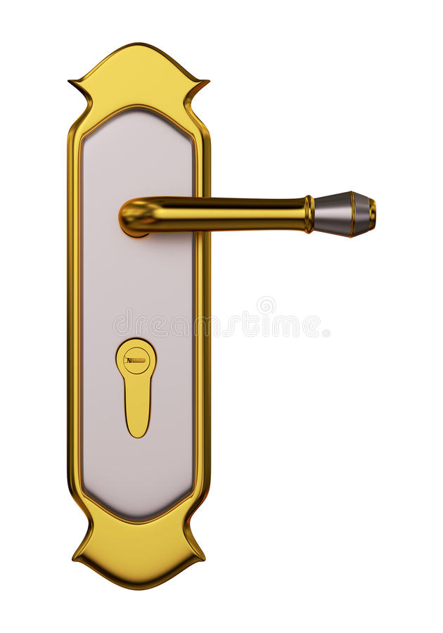 Modern Door Lock. stock illustration