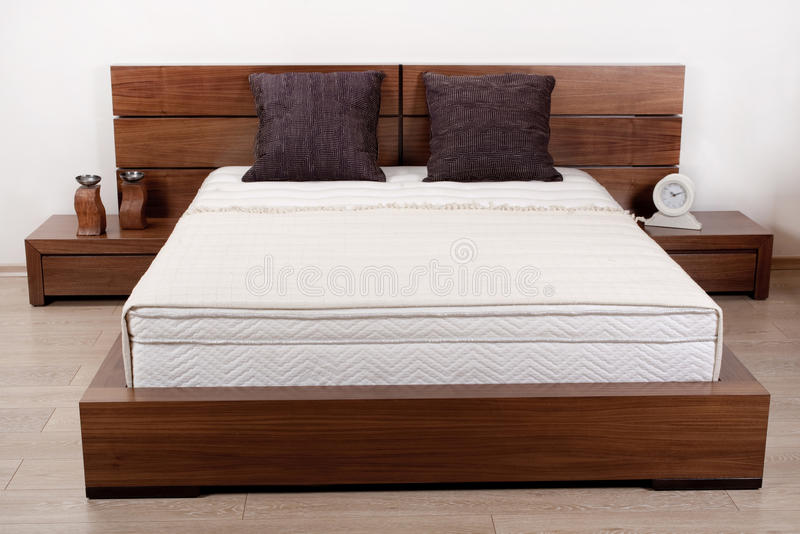 Modern double bedroom royalty free stock image