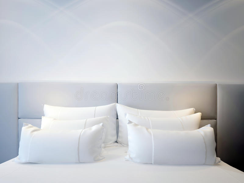Modern double bedroom royalty free stock photo