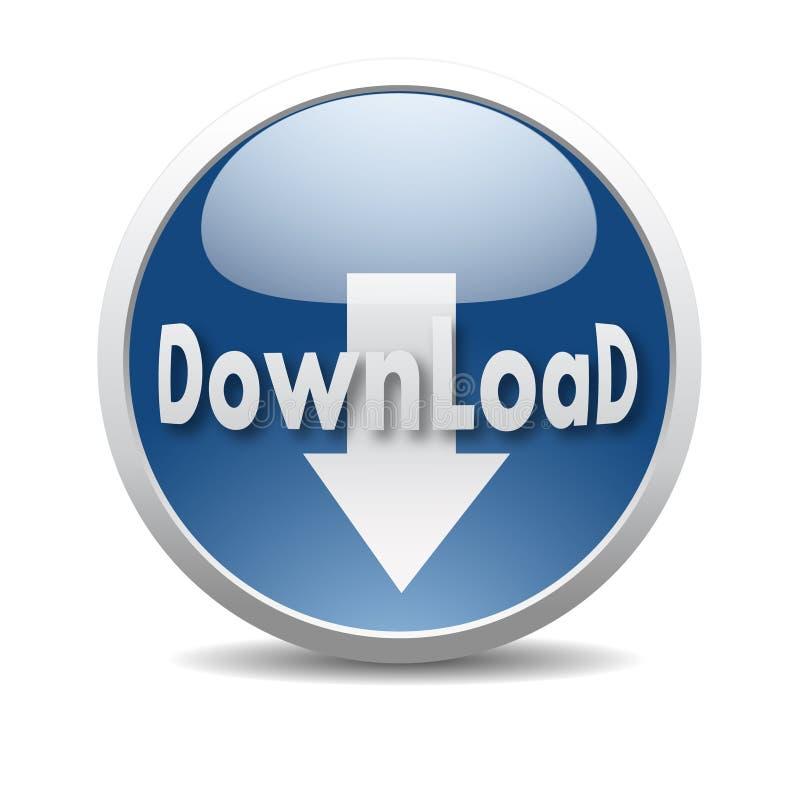 Modern downloadpictogram royalty-vrije illustratie