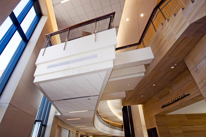 Modern downtown building interior royalty free stock photography