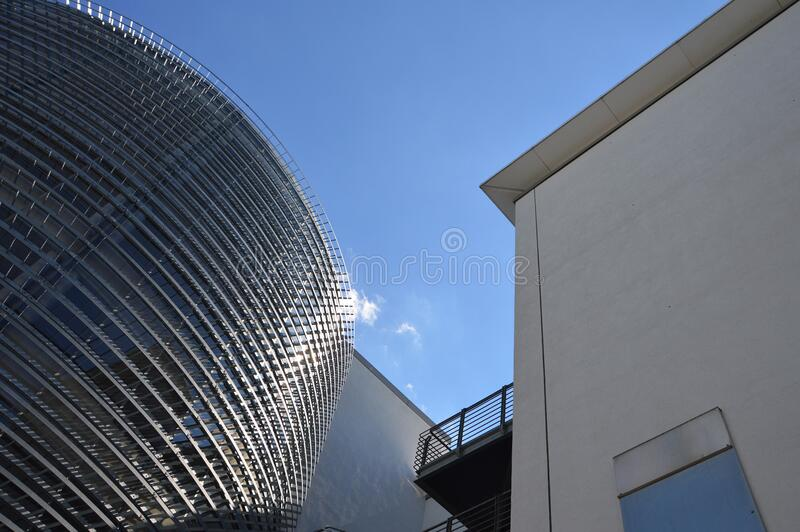 Modern downtown city buildings royalty free stock photography