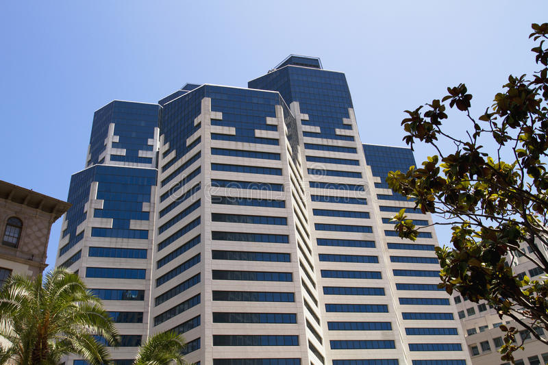 Modern Downtown City Hotel Building. Modern city hotel building in San Diego, California stock image