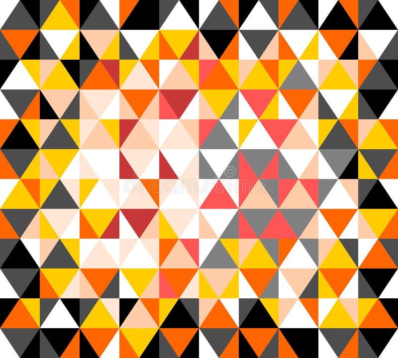 Modern driehoekspatroon stock illustratie