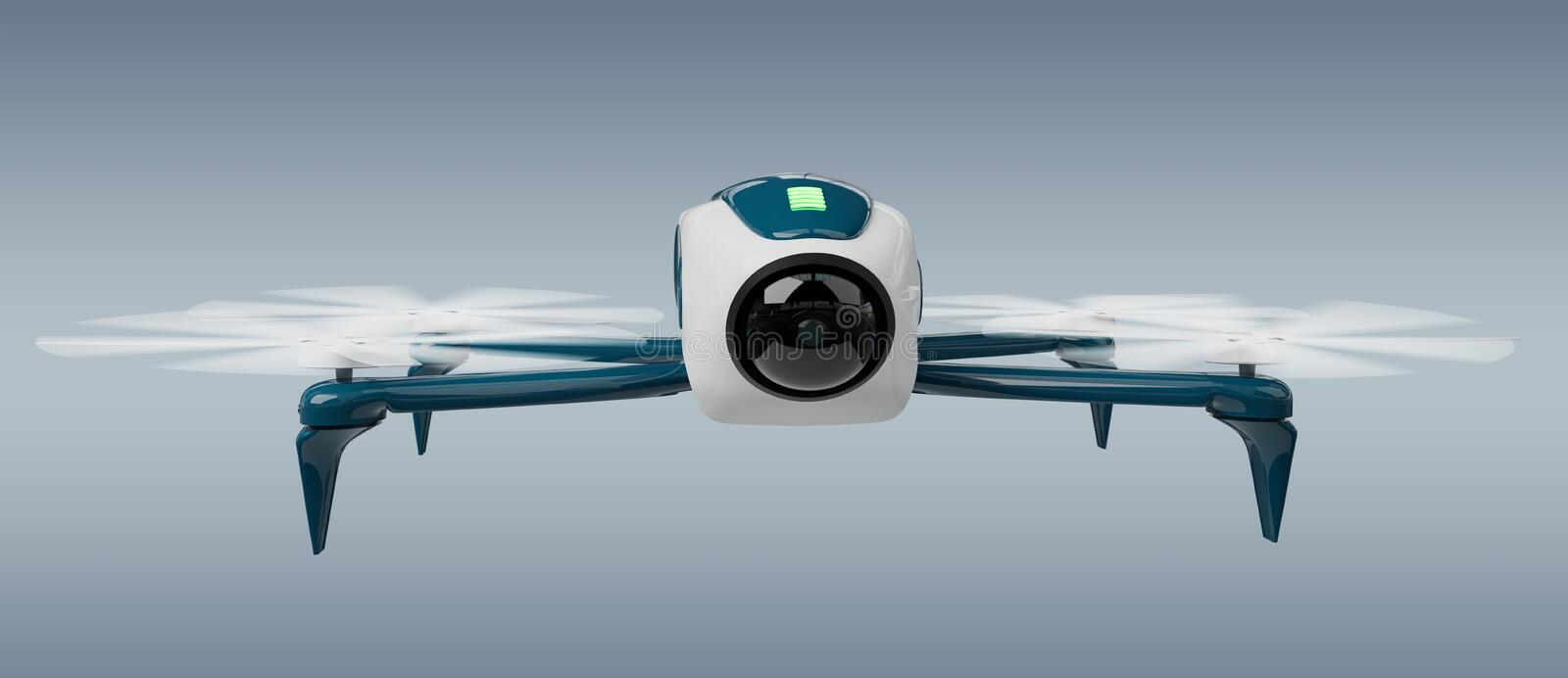 Modern drone 3D rendering royalty free illustration