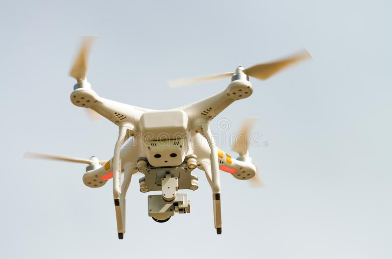 Modern drone flying in the air royalty free stock image