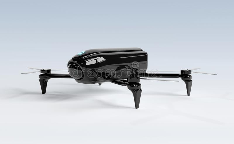 Modern drone isolated on grey 3D rendering vector illustration