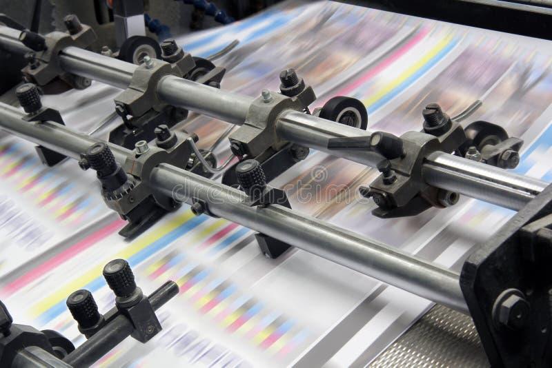 Modern drukhuis stock illustratie