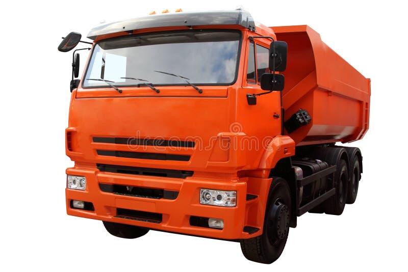 Modern dump truck. Modern dump truck isolated on white background stock images