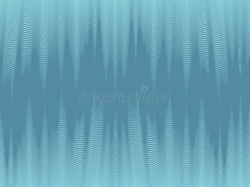 Modern dynamisk tapet, sömlösa rastrerade vågor royaltyfri illustrationer