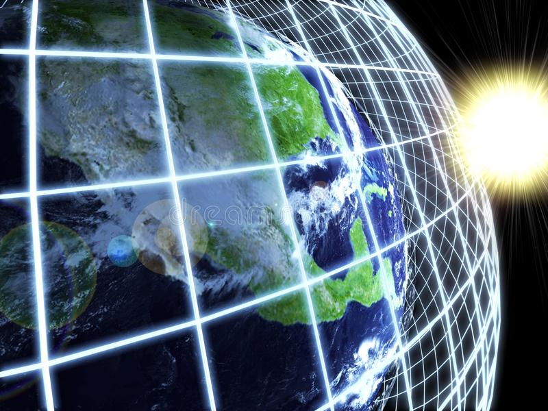 Download Modern Earth In A Web Network. Abstract Background Stock Illustration - Image: 19421664