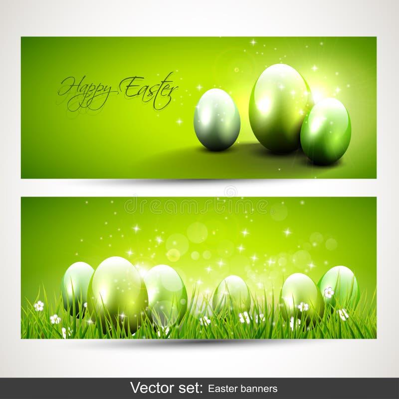 Modern Easter banners stock illustration
