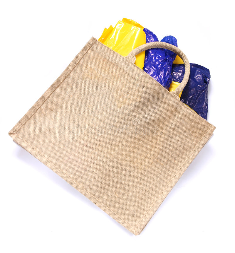 Free Modern Ecological Bag Eating Plastic Bags Royalty Free Stock Images - 3903679