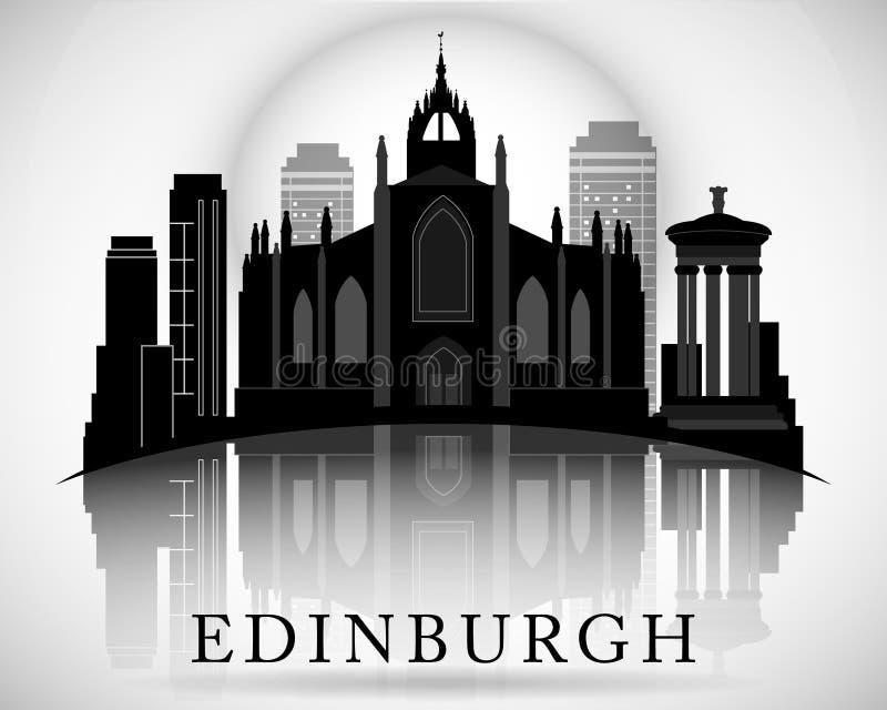 Modern Edinburgh City Skyline Design. Scotland. Modern Edinburgh City Skyline Design royalty free illustration