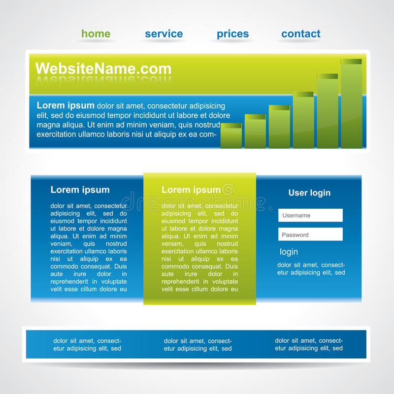 Download Modern Editable Website Template Royalty Free Stock Photography - Image: 19028707
