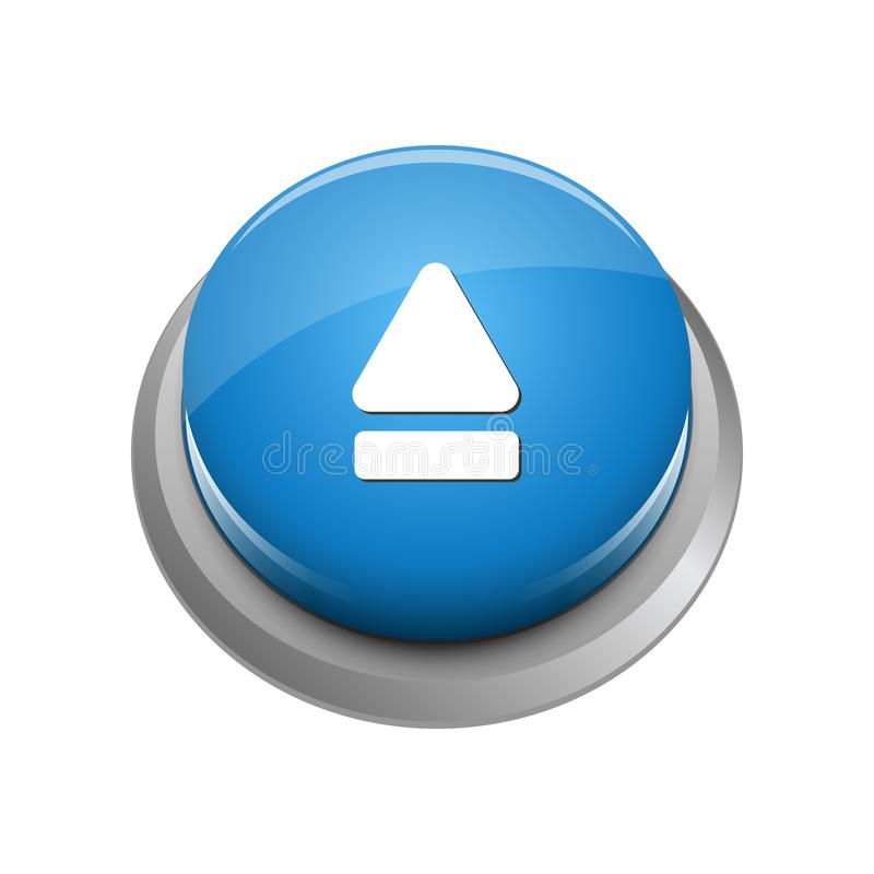 Modern Eject Icon Button Logo. With blue color and high end look stock illustration