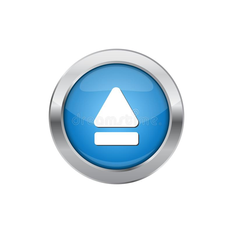 Modern Eject Icon Button Logo. With blue color and high end look vector illustration