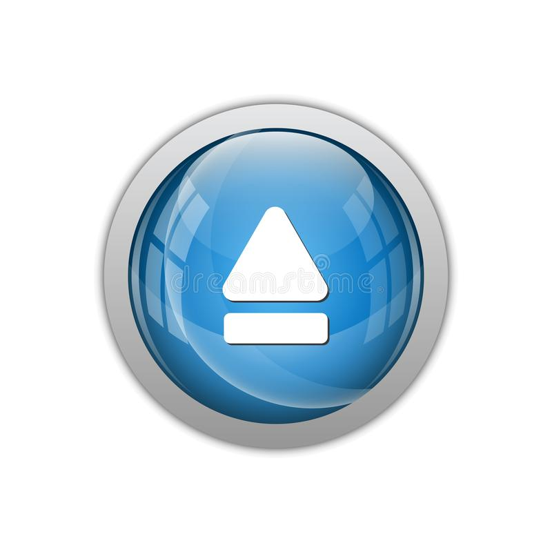 Modern Eject Icon Button Logo. With blue color and high end look royalty free illustration