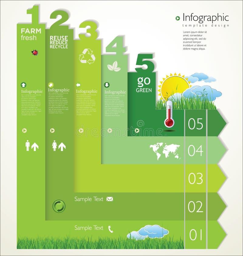 Modern ekologimalldesign stock illustrationer