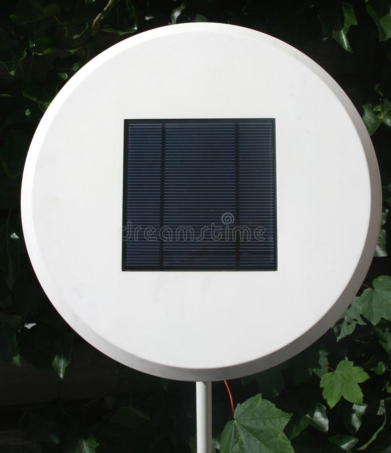 Modern electric lamp in the garden with alternative solar energy, Netherlands stock image