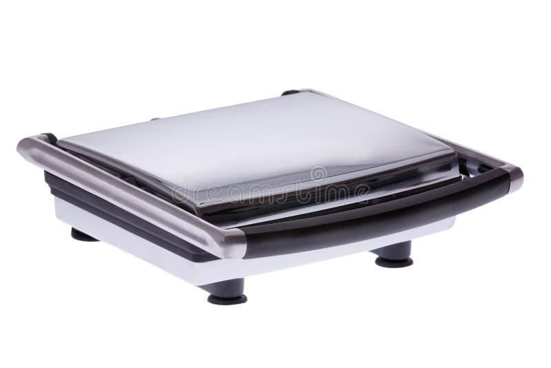 Modern electric panini sandwich maker stock images