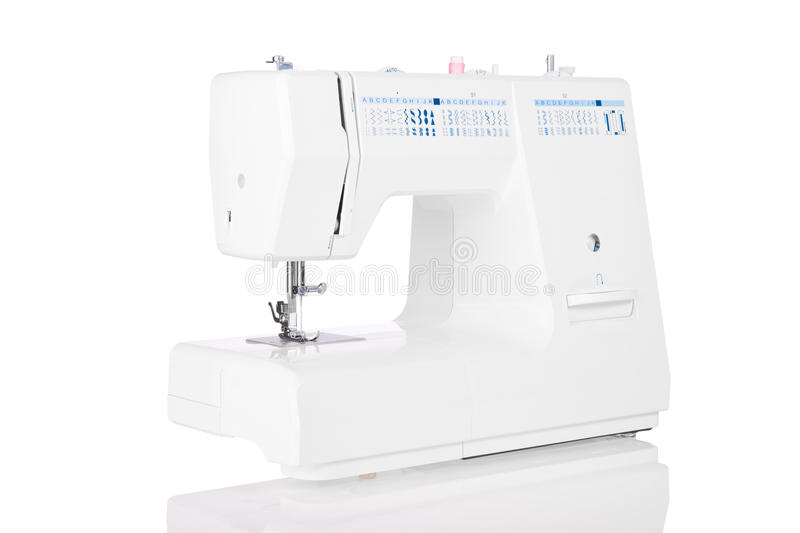 Modern electric sewing machine stock images