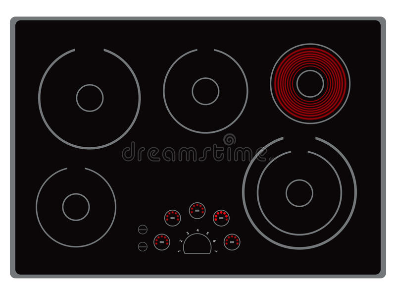 Modern Electric Stove Royalty Free Stock Photo