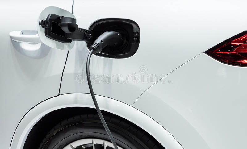 Modern electrical plugs. stock photos