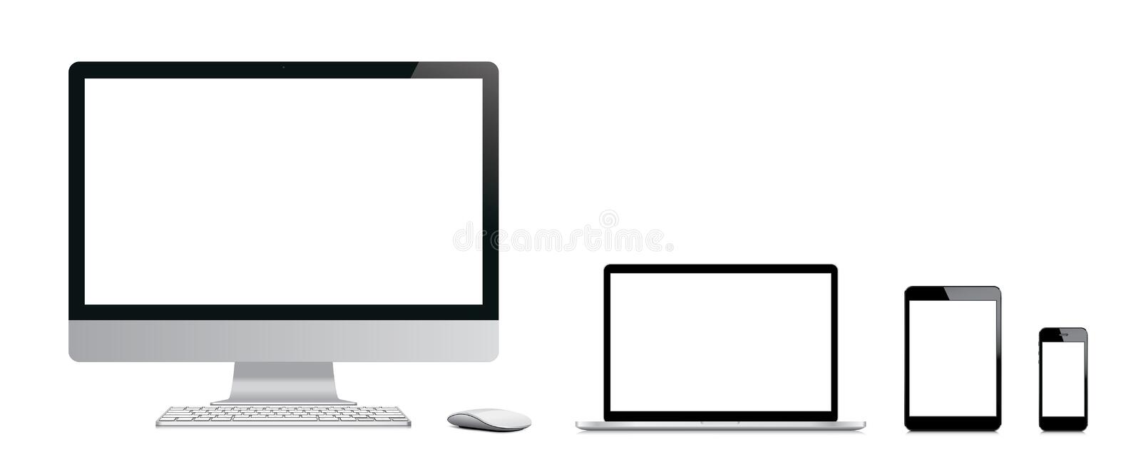 Modern electronic devices. royalty free illustration