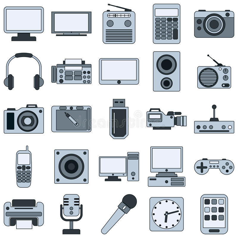 Modern electronic devices vector icons stock vector image 43783083 - Moderne apparaten ...