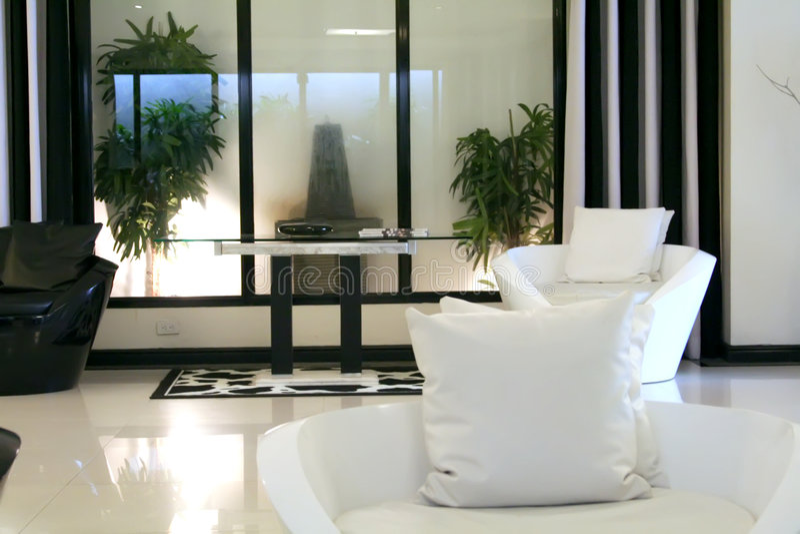 Modern elegant room stock images
