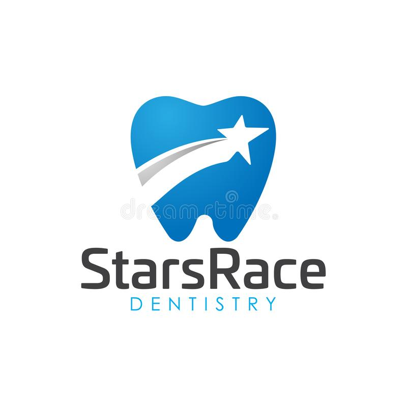 Modern elegant stars dental logo. Logo Design inspiration vector illustration