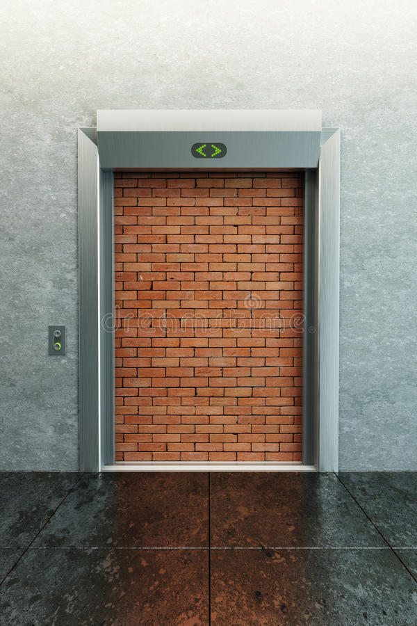 Modern Elevator With Deadlock Royalty Free Stock Photos
