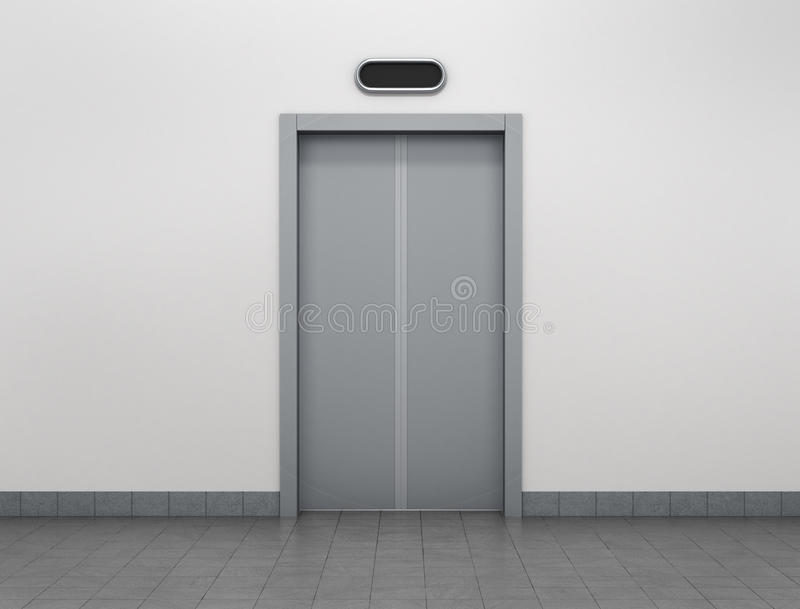 Download Modern Elevator Or Lift Doors Made Of Metal Closed Stock Illustration - Illustration of made : lift door - pezcame.com