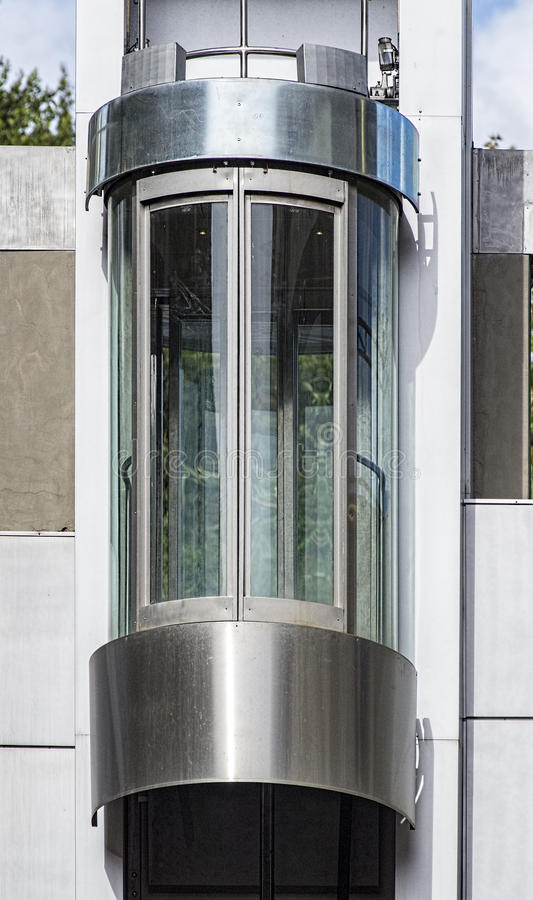 Modern elevator. In a town in italy royalty free stock photos