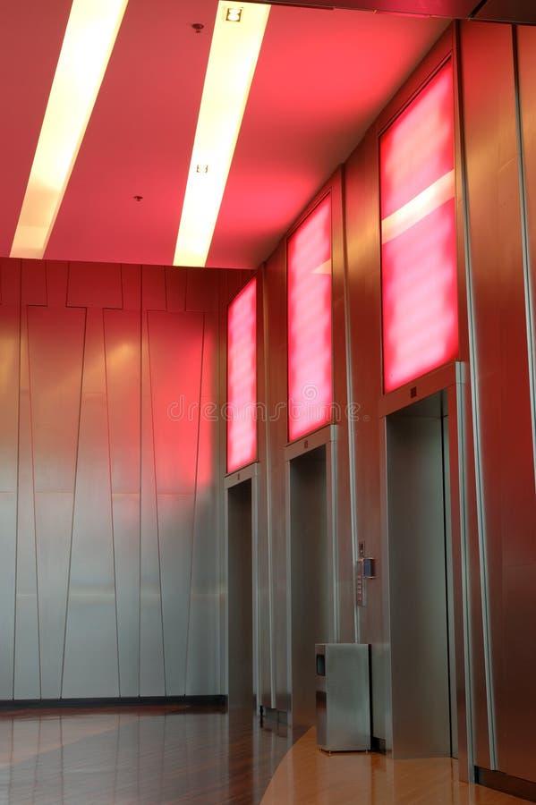 Modern elevators stock photos