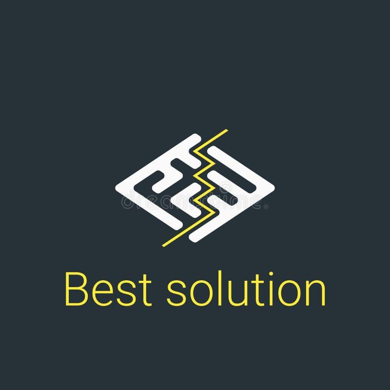 Modern embleem voor zaken Vectorillustratiesymbool stock illustratie