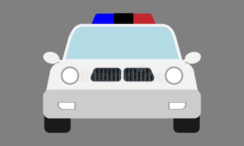 Modern emoji för polisbil med främre sikt Illustration f?r tecknad filmstilvektor stock illustrationer