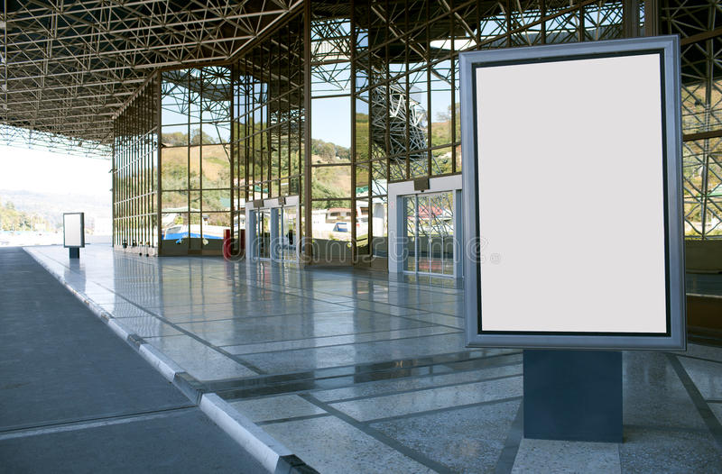 Modern empty billboard royalty free stock image