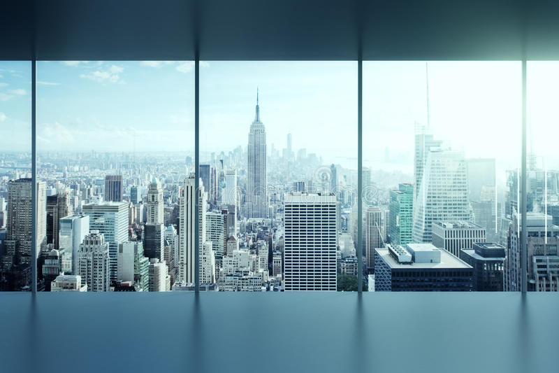 Modern empty office interior stock photo