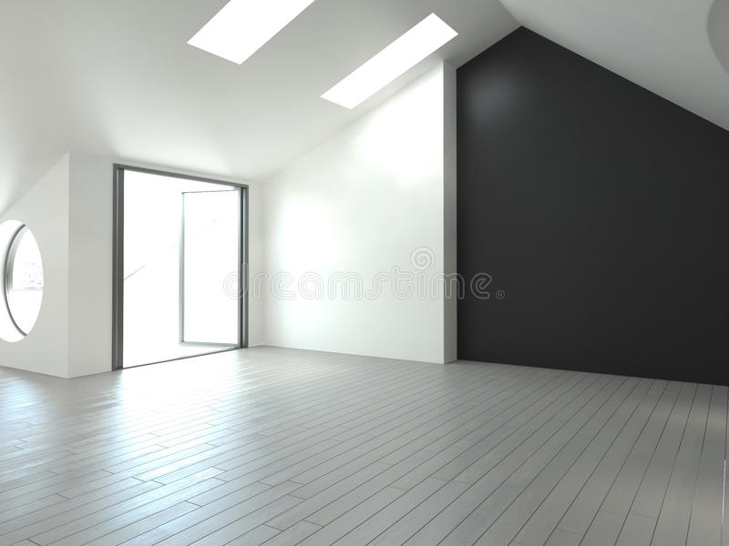 Modern Empty Room | Architecture Interior royalty free illustration
