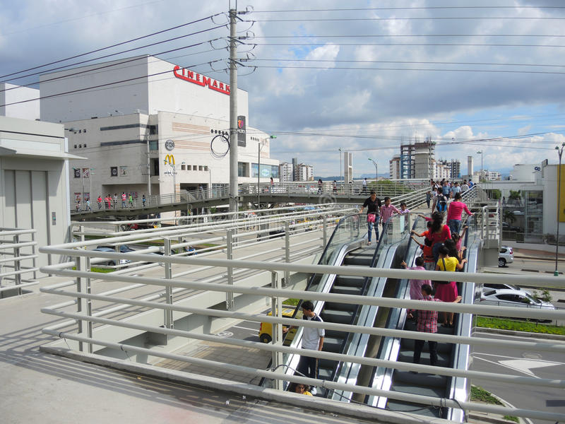 Modern en commercieel gebied in Bucaramanga, Colombia. stock fotografie