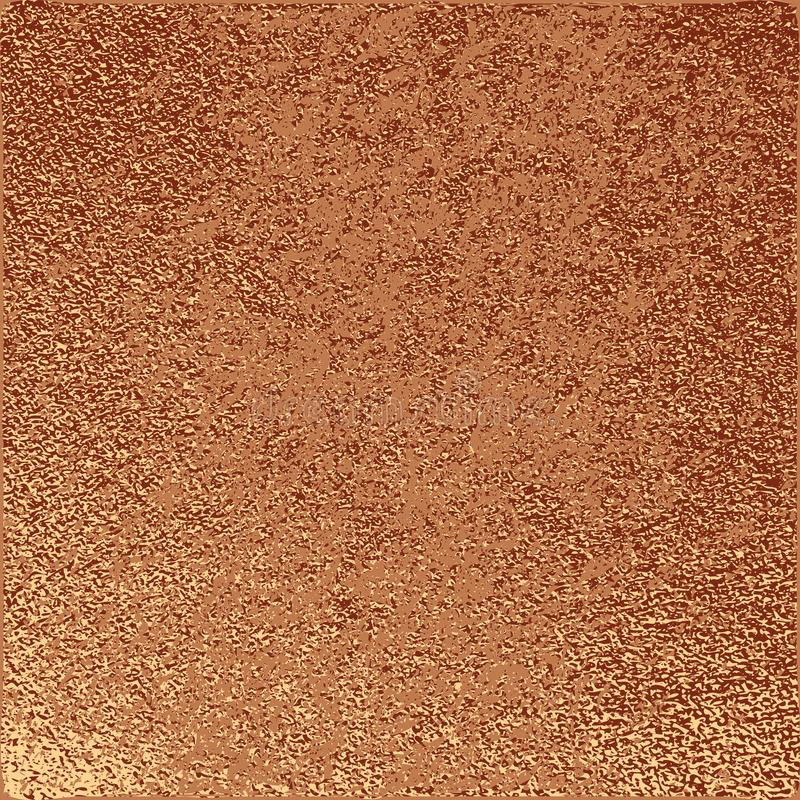 Modern en modieus minimaal ontwerp Koper glanzende achtergrond Metaal textuur Bronsmetaal vector illustratie