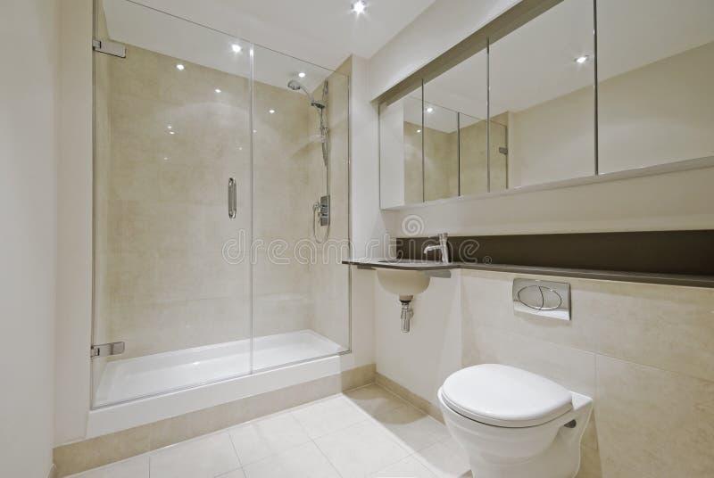 Modern en-suite bathroom royalty free stock photo