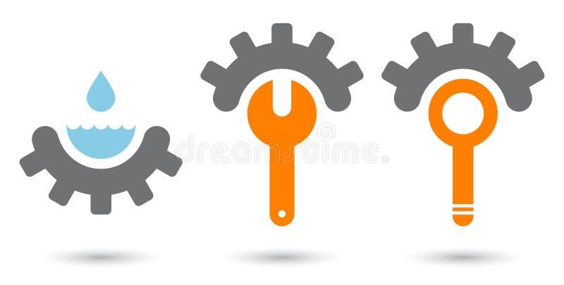 Modern engineering sign vector illustration