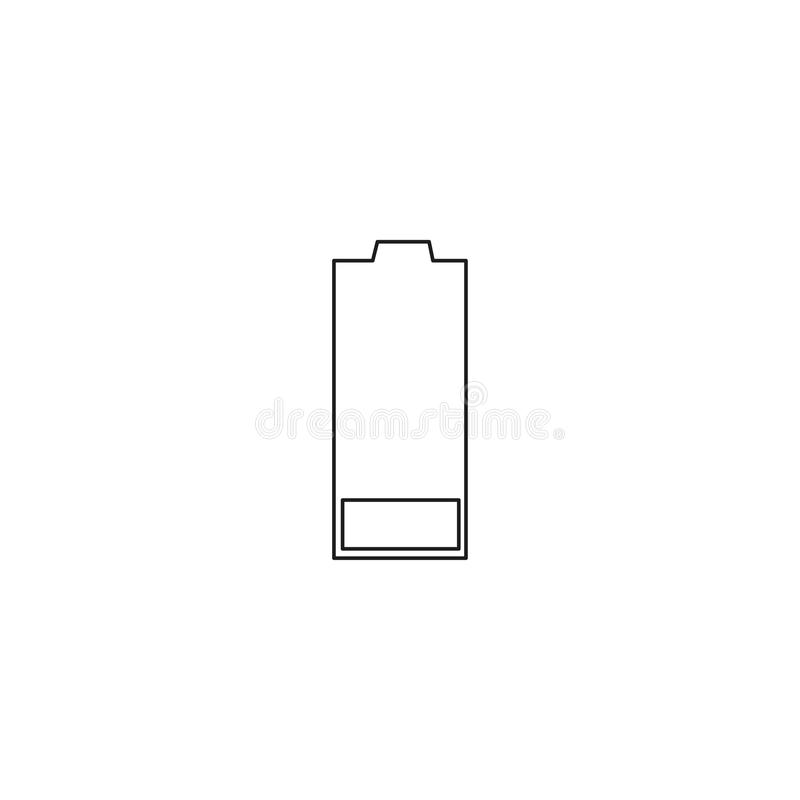 modern & enkel mobiltelefon för enkelt rent lågt tomt batteri eller mobil en laddande batteribelysningvektor utan energi & en lev stock illustrationer